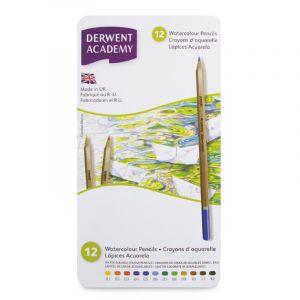 Coffrets Derwent Academy - crayons aquarellables, Aquarellables