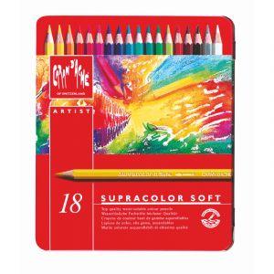 Crayon supracolor soft coffret métal, 18 crayons
