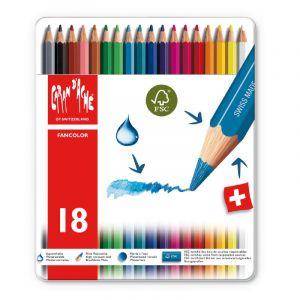 Coffrets Fancolor, 18 crayons