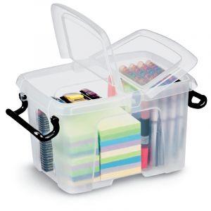 Boîtes vides en plastique, 221 x 157 H155 mm, 6 litres