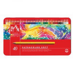 Crayon supracolor soft coffret métal, 40 crayons