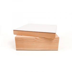 Boîte en bois Do It Yourself Gerstaecker, 15cm x 15cm x 7cm