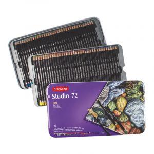 Coffrets Crayons de couleurs Derwent Studio, 72 crayons de couleurs