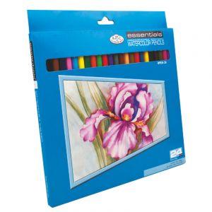 Coffrets de crayons aquerellables Royal Langnickel, 24 crayons
