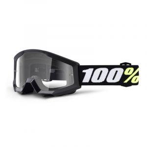 Masque cross enfant 100% Strata mini Black Clear lens
