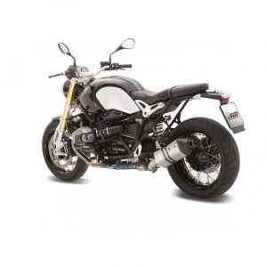 Silencieux MIVV Speed Edge inox / casquette carbone BMW R1200 nineT 14