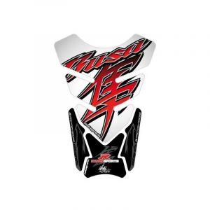 Protection de réservoir Motografix blanc/rouge/noir Suzuki Hayabusa 4