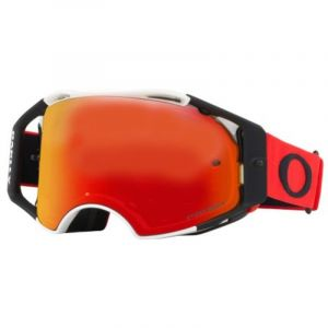 Masque cross Oakley Airbrake rouge/blanc écran Prizm torch iridium