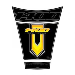 Protection de réservoir Motografix noir/jaune Suzuki GSX1400 3 pièces