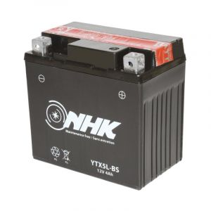Batterie NHK YTX5L-BS 12V 4Ah avec entretien livrée avec pack acide