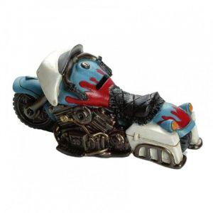 Tirelire Booster Motorbike 20cm bleu