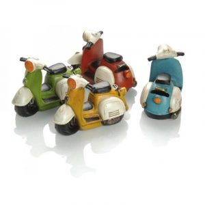 Tirelire Booster Scooter 14cm jaune