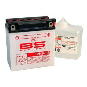 Batterie BS Battery 12N9-3B conventionnelle 12V 9,5Ah avec pack acide