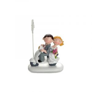 Figurine mariage Booster Scooter 8cm