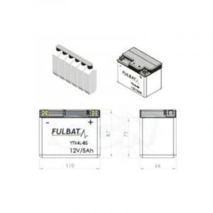 Batterie YTX4L-BS Fulbat 12V - 5Ah