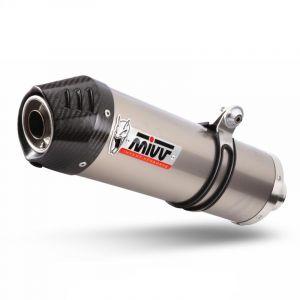 Silencieux MIVV Oval titane / casquette carbone BMW K1200 R / S / GT /