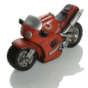 Tirelire Booster Motorbike 21cm rouge