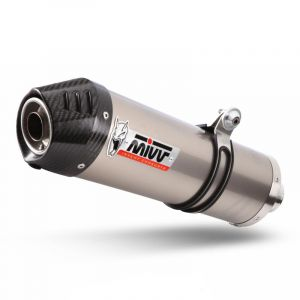 Silencieux MIVV Oval titane / casquette carbone BMW K1300 R / S 09-
