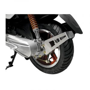 Support plaque immatriculation alu Scooter CPI - Arrière