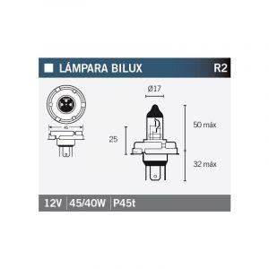 Ampoule Vicma R2 P45T Bilux 12V 45/40W
