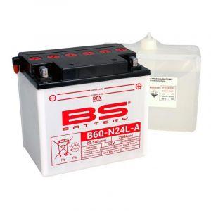 Batterie BS Battery B60-N24L-A 12V 29,5Ah conventionnelle avec pack ac