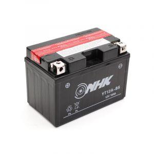 Batterie NHK YT12A-BS 12V 10Ah avec entretien livrée avec pack acide