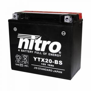 Batterie Nitro YTX20-BS 12V 18 Ah avec acide