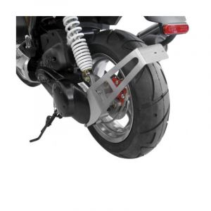 Support plaque immatriculation alu Scooter Peugeot - Latéral