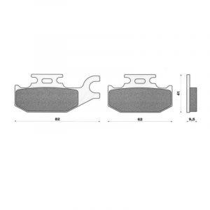 Plaquettes de frein C4 Burgman 125-200 07-09 arrière