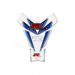 Protection de réservoir Motografix blanc/rouge/bleu Suzuki GSX-R 1 piè