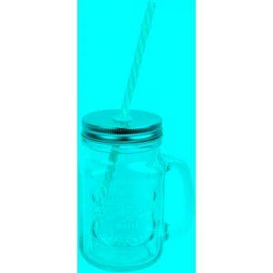 Tasse Essentielb Drinking Jar verre couv. et paille