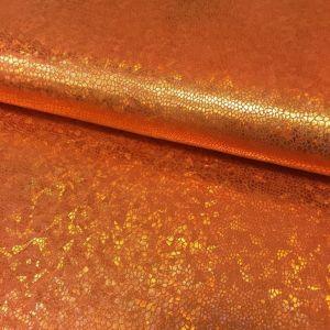 Tissu Lamé effet holographique Orange