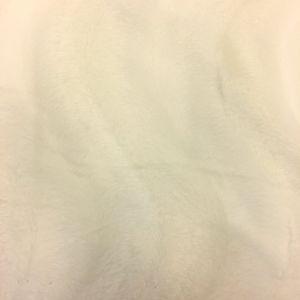 Tissu Velours Peau de bête Ours polaire Blanc cassé