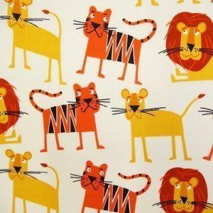 Tissu Robert Kaufman Jungle party Lions et Tigres