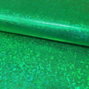 Tissu Lamé effet holographique Vert
