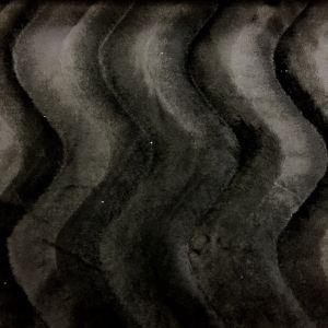 Tissu Velours Peau de bête Panthère Noir