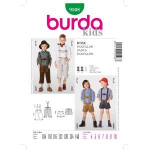 Patron Burda 9508 Pantalon avec bretelles