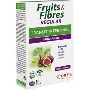 Ortis Fruits & Fibres Regular Transit Intestinal 30 Comprimés
