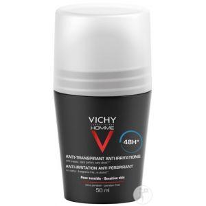 Vichy Homme Duo Déodorant Peaux Sensibles 48h Rollers 2x50ml Promo 2ème À -50%