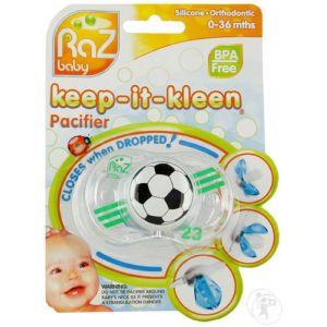 Raz Baby Keep-It-Kleen Tétine Soccer Ball 0-36 Mois 1 Pièce