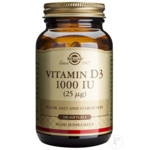 Solgar Vitamine D3 100 Softgels
