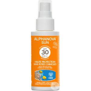 Alphanova Sun Crème Solaire Bio Haute Protection Spf30 Format Pocket 50g