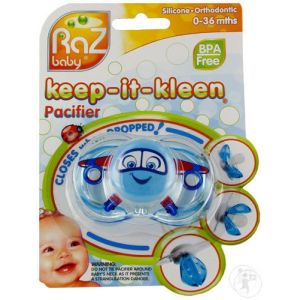 Raz Baby Keep-It-Kleen Tétine Adam Airplane 0-36 Mois 1 Pièce