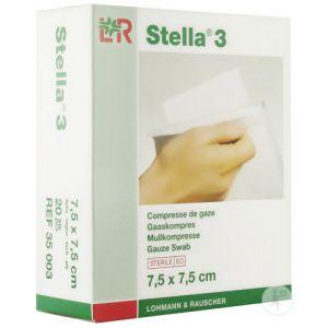 Lohmann & Rauscher Stella 3 Compresse De Gaze Stérile 7,5x7,5cm 20 Pièces (35003)