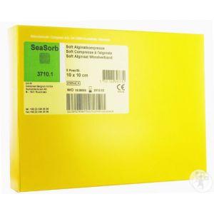 Coloplast Biatain Alginate SeaSorb Soft Pansement 10x10cm Pièces 5 (3710/1)