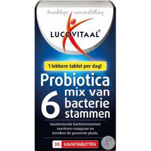 Lucovitaal Probiotique Mix De 6 Souches Bactériennes 30 Comprimés À Mâcher