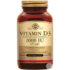 Solgar Vitamin D3 1000IU/25µg Comprimés 180