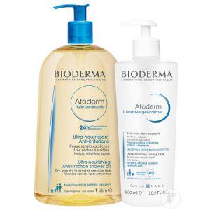 Bioderma Atoderm Routine Peaux Très Sèches Doucheolie 1l + Intensive Gel-Crème 500ml