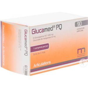 Glucamed PQ D-Glucosamine HCI 1500mg Comprimés Pelliculés 90