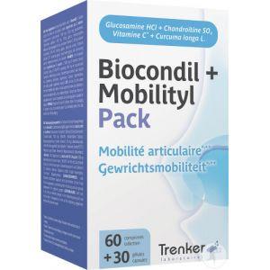 Biocondil + Mobilityl Pack Mobilité Articulaire 60 Comprimés + 30 Gélules